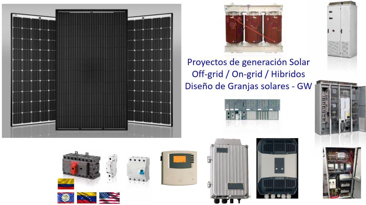 Proyectos Off-Grid / On-Grid / Híbridos / Granjas solares GW